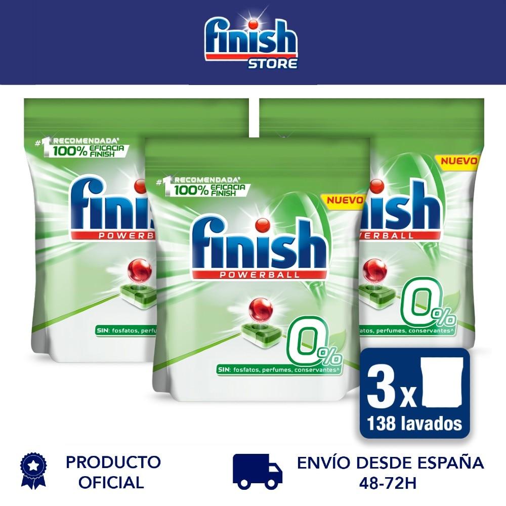 Готовый Powerball 0%-коврики для посудомоечной машины все в 1, без фосфат-2 упаковки x 35 + 11 - 138 таблеток