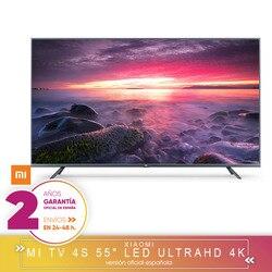 [Officiële Spaanse Versie Garantie] Xiao Mi Mi Tv Android Smart Tv 4S 55 Inch 4K Hdr tv Screen 2 Hard Gb + 8 Hard Gb Dolby DVB-T2