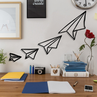 Paper Plane Metal Black Decor Wall Art Decorative Turkish Style large wall decor for Bedroom Living Room Office Home decor