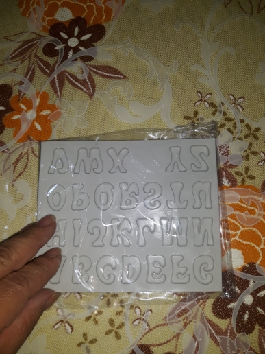 Capital Small Letter Number Silicone Mold photo review