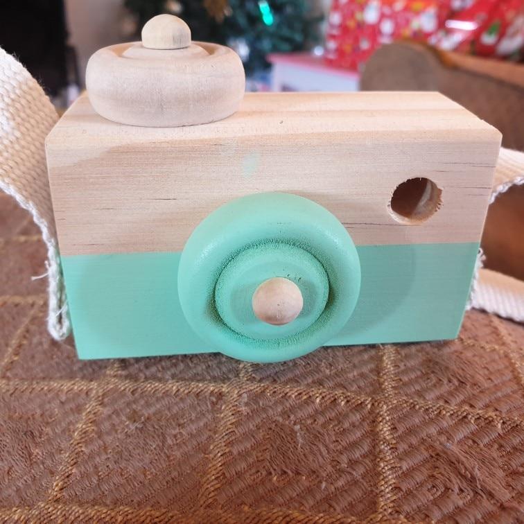 Let's make 1pc Wooden Baby Toys Fashion Camera Pendant Montessori Toys For Children  Wooden DIY Presents Nursing Gift Baby Block - cheapkidsstuff.com
