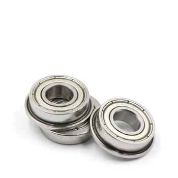 1Pcs Mini Metal Shielded Miniature Flanged Ball Bearings Steel Flange Bearing 2/3/4/5/6/7/8/9/10/12/15/17mm Bearing Ball 10pcs lot mr85zz miniature bearing double shielded ball bearings 5x8x2 5mm for printer hot sale cheap price