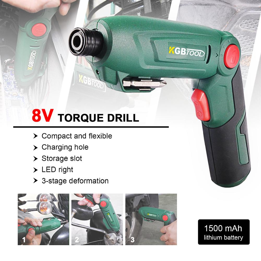 2019 Cordless Electric Mini Screwdriver 8V Max Portable Rechargeable Power Tool
