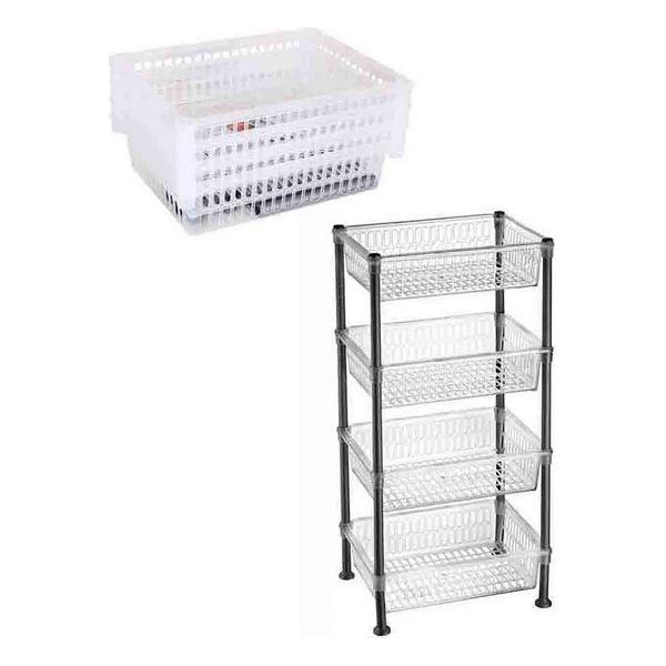 Shelves Confortime Plastic 4 Shelves (39,5 X 30 X 82 Cm)