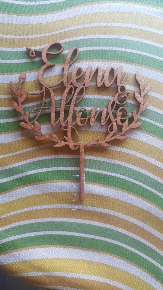 Materiais p/ decoração de bolo Topper Madeira Personalizados