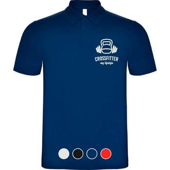 CrossFit Polo Shirt Man 100% Cotton High Quality Pique Knit Eco-Friendly Vinyl #HCPO0100 1