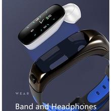Accalia S1 sport band bluetooth headphone heart rate blood pressure monitor smart wristband waterproof fitness tracker