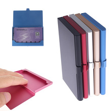 Card-Holder Wallet Business-Card-Case Metal-Box Credit Aluminum ID 1PCS Creative