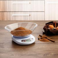 Digital scale with LCD screen basket weight max 5kg hanging kitchen with small round tray tray weight Petty