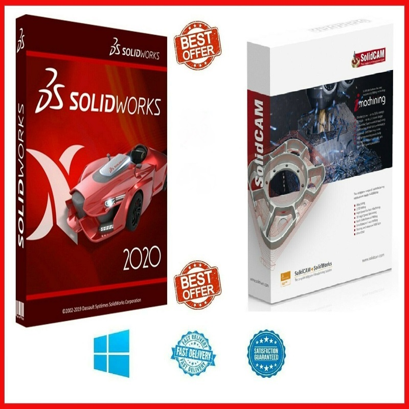 SOLIDWORKS PREMIUM 2021 SP1.0 + SOLIDCAM 2020 SP3 HF3 ⭐ + Gift TRAINING COURSE ⭐ enlarge