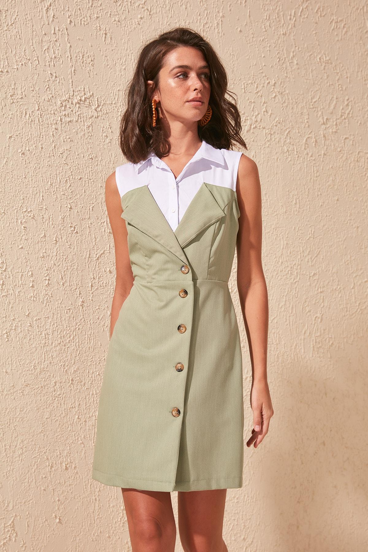 Trendyol Shirt Collar Dress TWOSS20EL0923