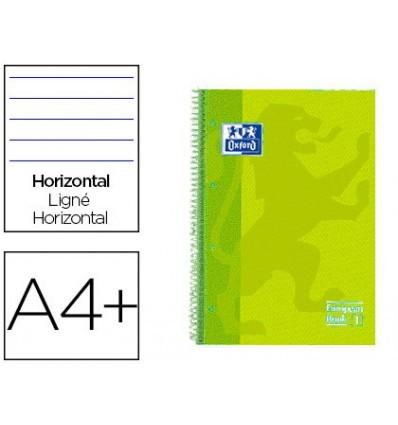 SPIRAL NOTEBOOK OXFORD EBOOK 1 TOP EXTRADURA DIN A4 + 80 H HORIZONTAL LIME TOUCH 5 Pcs