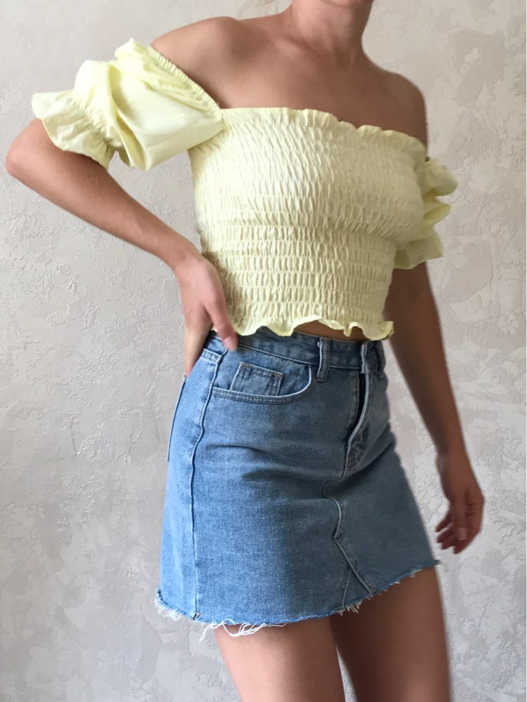 Summer Fashion High Waist Skirts Womens Pockets Button Denim Skirt Female Saias New All Matched Casual Jeans Skirt photo review