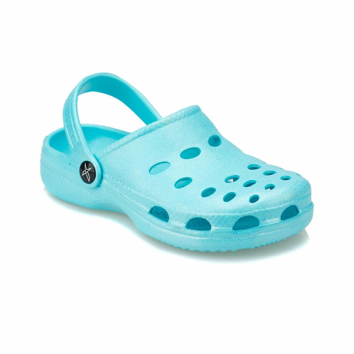 FLO BERIN Light Turquoise Female Child Slippers KINETIX