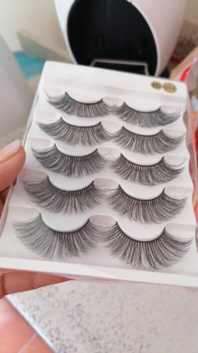 5pairs Natural False Eyelashes Mink Eye Lash Thick Long Lashes Makeup Beauty Extension Silk Eyelashes Tools reviews №1 422535