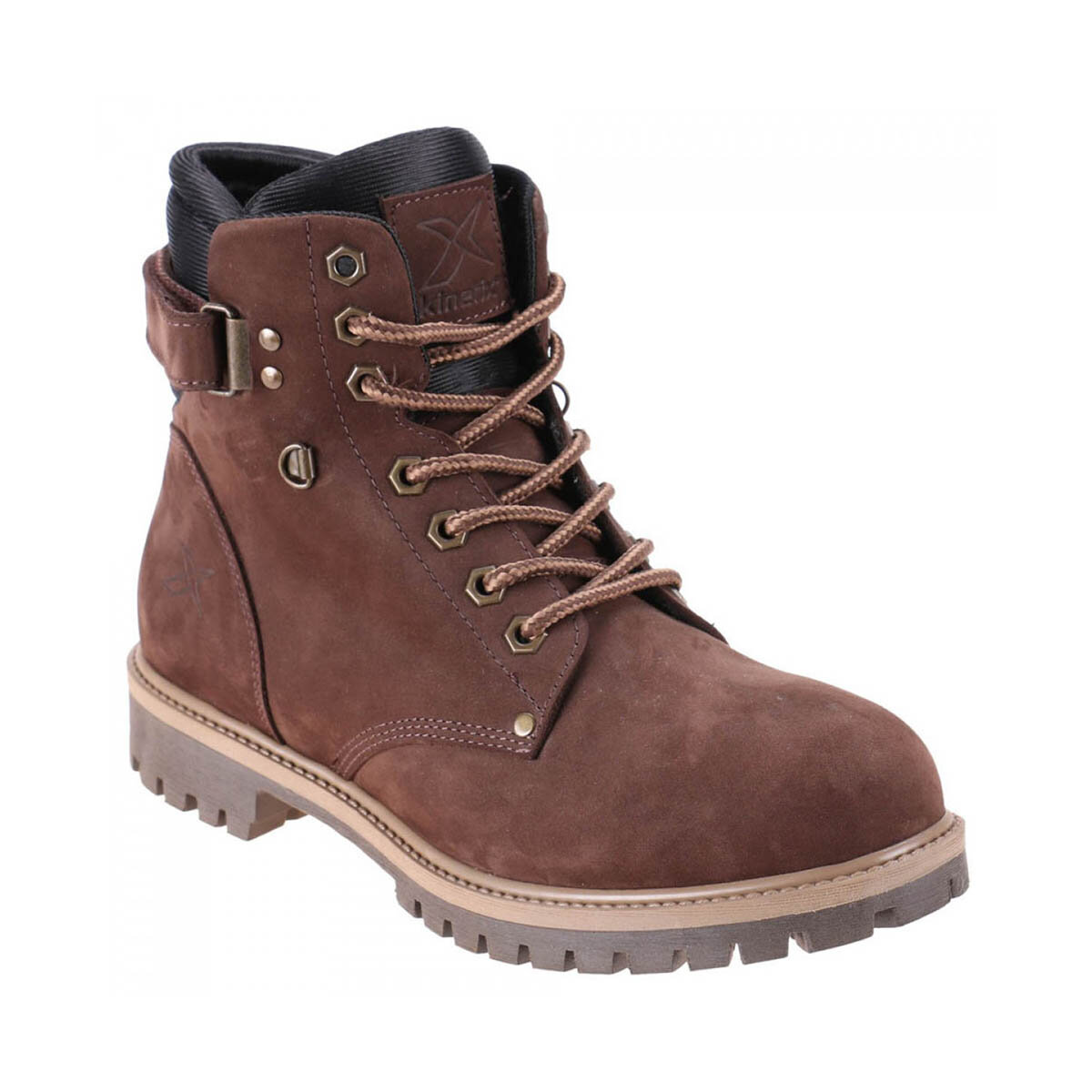 FLO 1252484 Brown Men Boots KINETIX