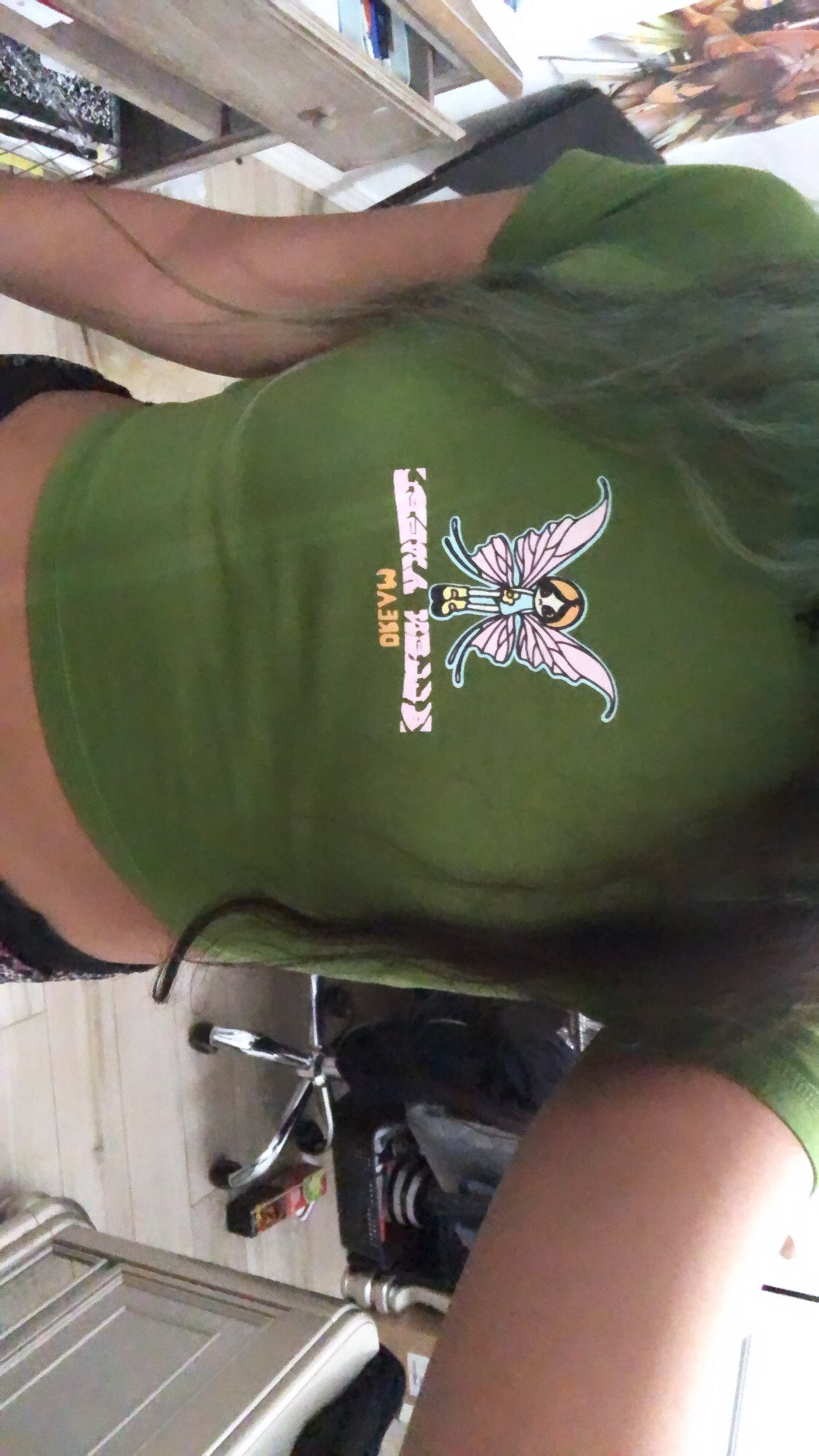 E-girl Crop Top with Butterfly Print photo review