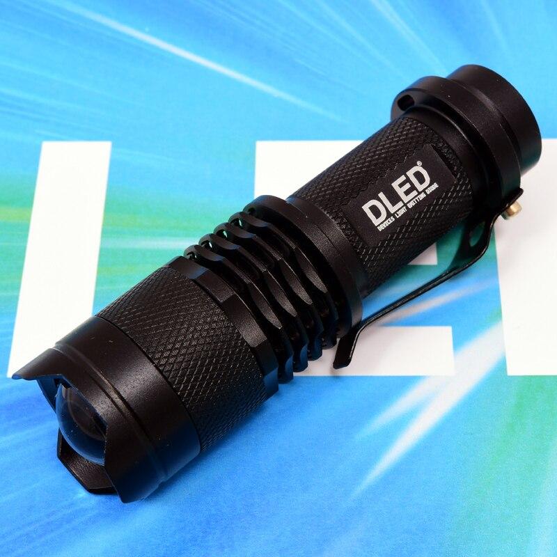 Waterproof LED Flashlight CREE Q5 DLED Mini Black 2000lm