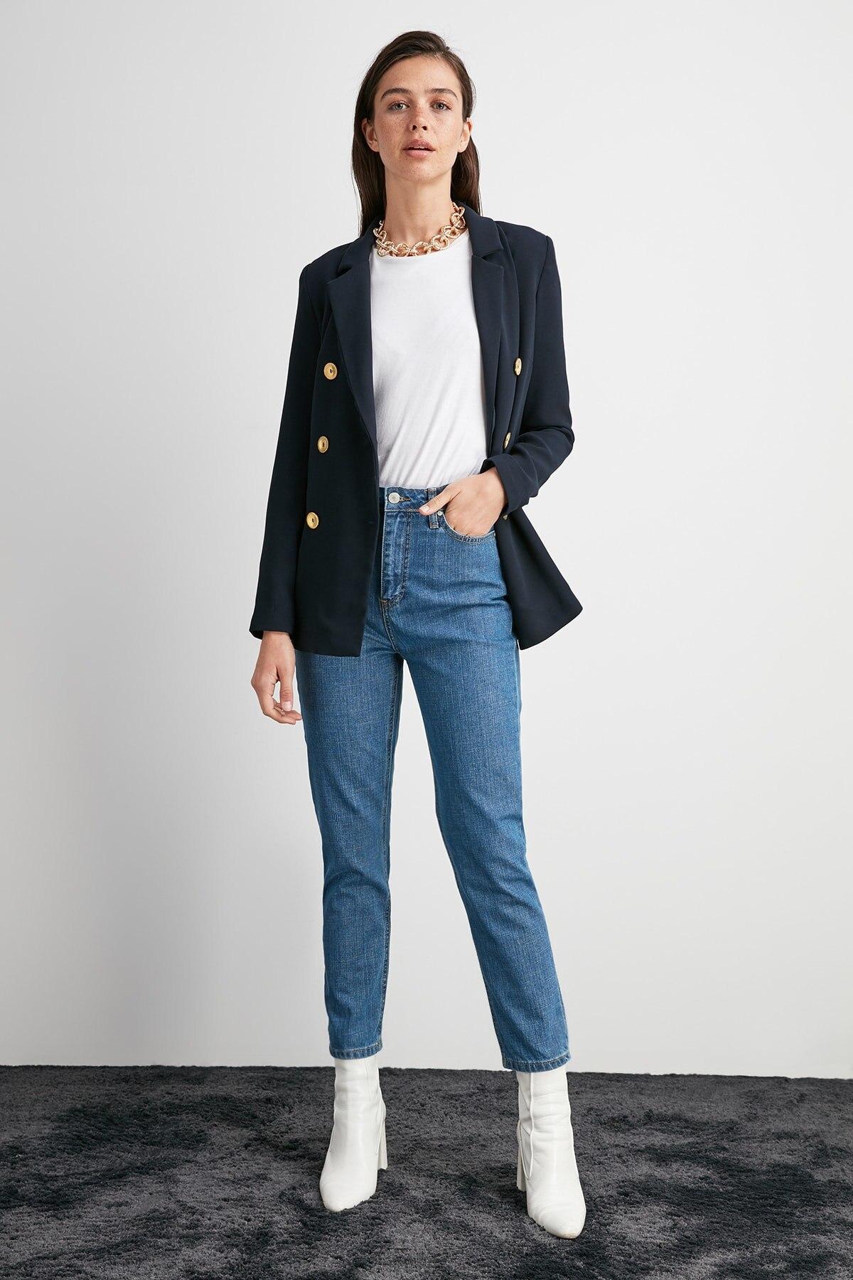 Trendyol High Bel Mom Jeans TWOAW20JE0457