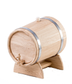 Oak жбан with crane for drink brew wine cognac whisky alcohol
