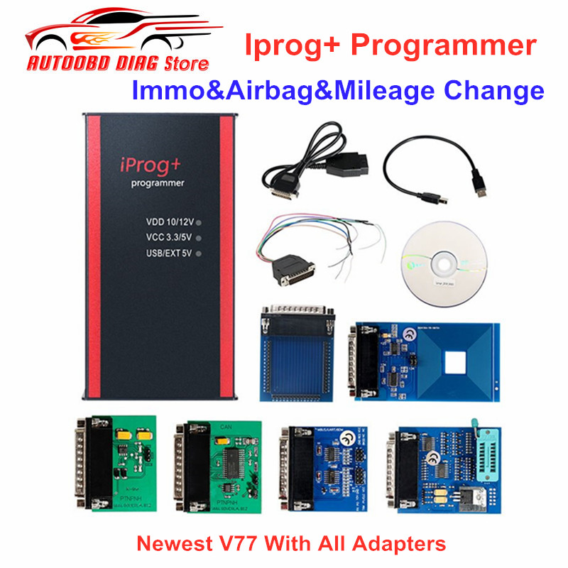 Best Price iPROG+ Prog Programmer Updated V77 iProg Supports IMMO/Mileage Correction/Airbag Reset Replace Carprog/Digiprog/Tango-in Air Bag Scan Tools & Simulators from Automobiles & Motorcycles