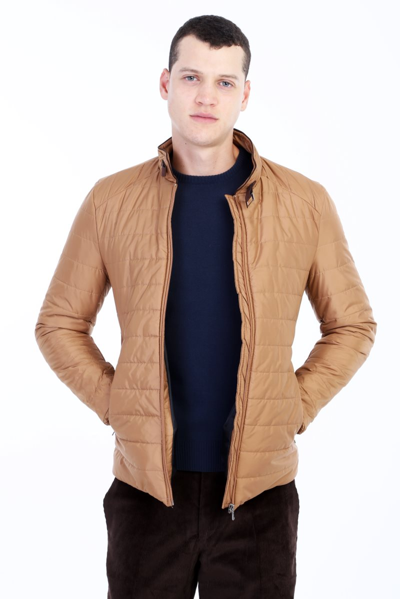 Kigili Menswear Autumn-Winter Warm Casual Slim Fit Quilted Polyester High Quality Coats Made In Turkey Men's Blend Hood Coat
