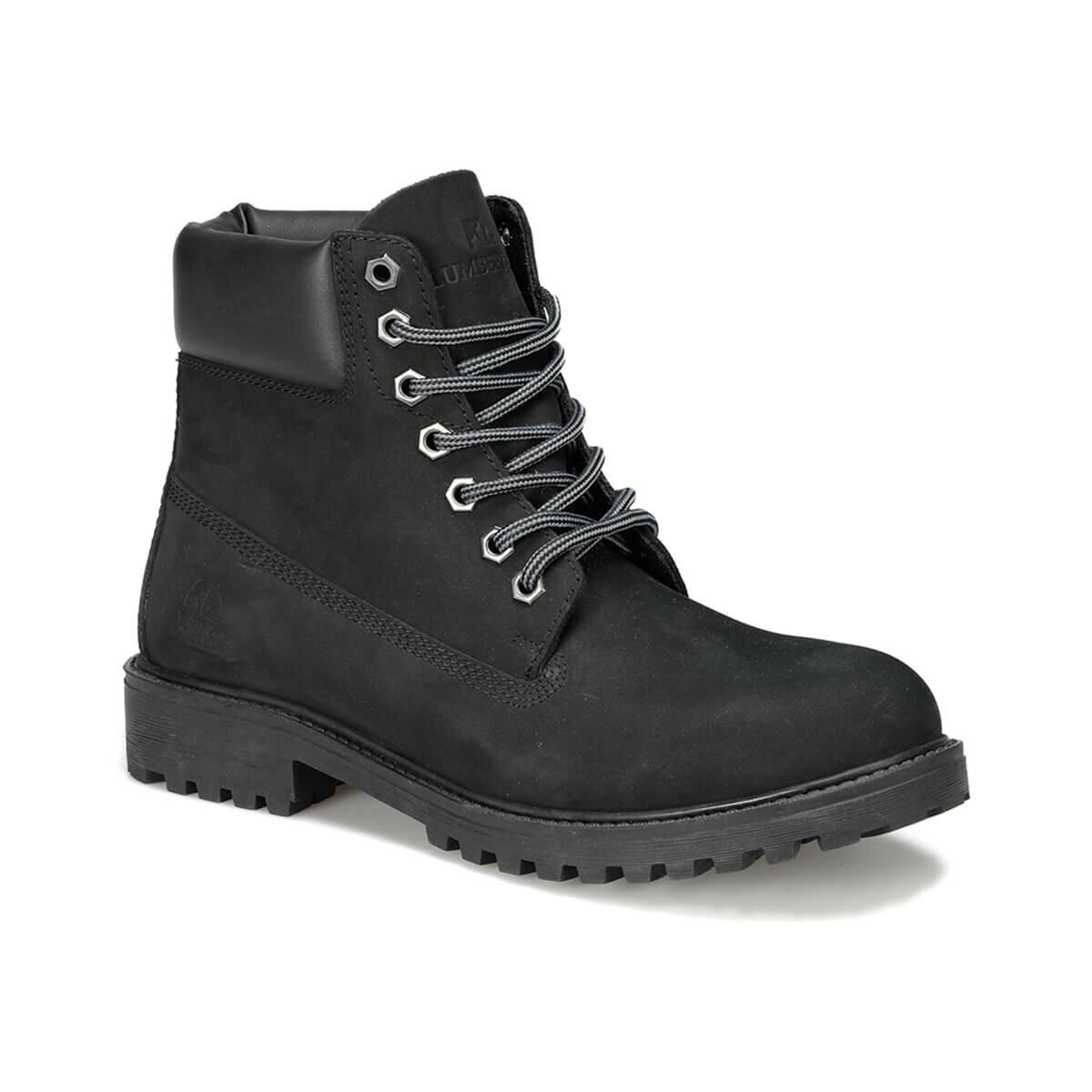 FLO RIVER NUB 9PR Black Men Boots LUMBERJACK