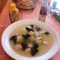 #太太乐鲜鸡汁芝麻香油#冬瓜丸子汤的做法图解5