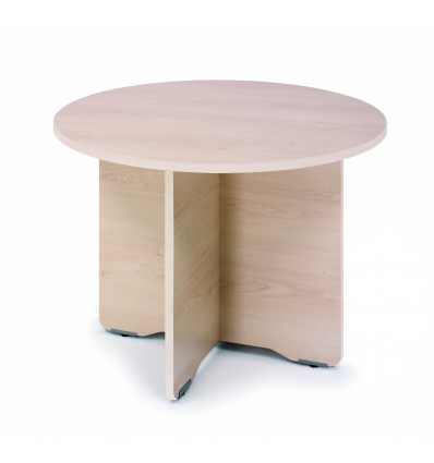 MEETING TABLE ROUND 120CM IN DIAMETER HEIGHT 72CM COLOR: PAW BEECH/BOARD HAS