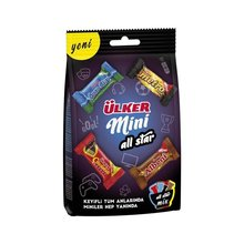 WITH A GREAT FLAVOR WITH A DELICIOUS TASTE      Ülker Mini All Star Mix 91 gr Bag  FREE SHIPPING