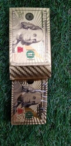 Jeu de Carte Doré Unique Euros et Us Dollars Pour Joueur De Poker | Idée Cadeau Perso