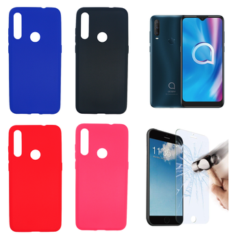 """Case Cover Gel TPU Silicone for Alcatel 1SE (2020) (4G) 6.22 """"(pick Color) + Protector optional"""