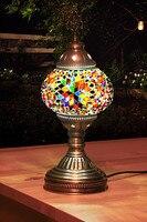 Turco diferentes cores artesanal mosaico candeeiros de mesa|Luminárias de mesa| |  -