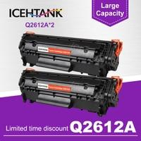 ICEHTANK 2PCS kompatibel Q2612A q2612 2612a 12a 2612 Toner Patrone für HP LaserJet LJ 1010 1020 1015 1012 3015 3020 3030 3050-in Toner-Patronen aus Computer und Büro bei