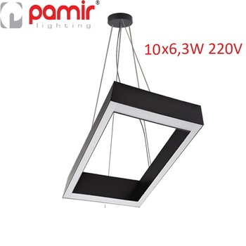 Pamir Lighting 10x6,3W L: 640x921mm Square Type Suspended LED Lighting Fixture PL7SK23L15C Energy Saving Light Decorative Design