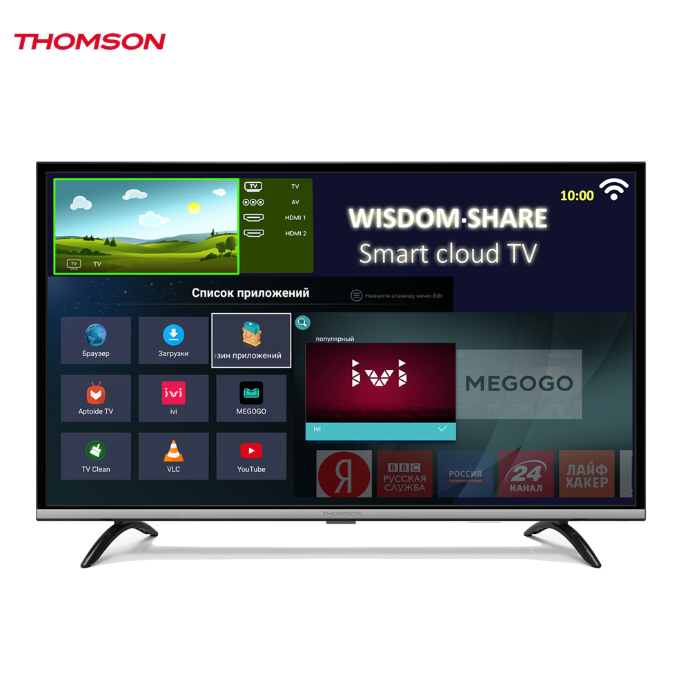 LED Television Thomson 1271607 smart tv for home dvb-t2 digital 43inch thomson t32d19dhs 01b t2 smart