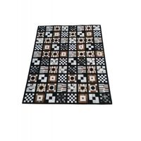 Carpet patchwork cowhide 243x303 cm
