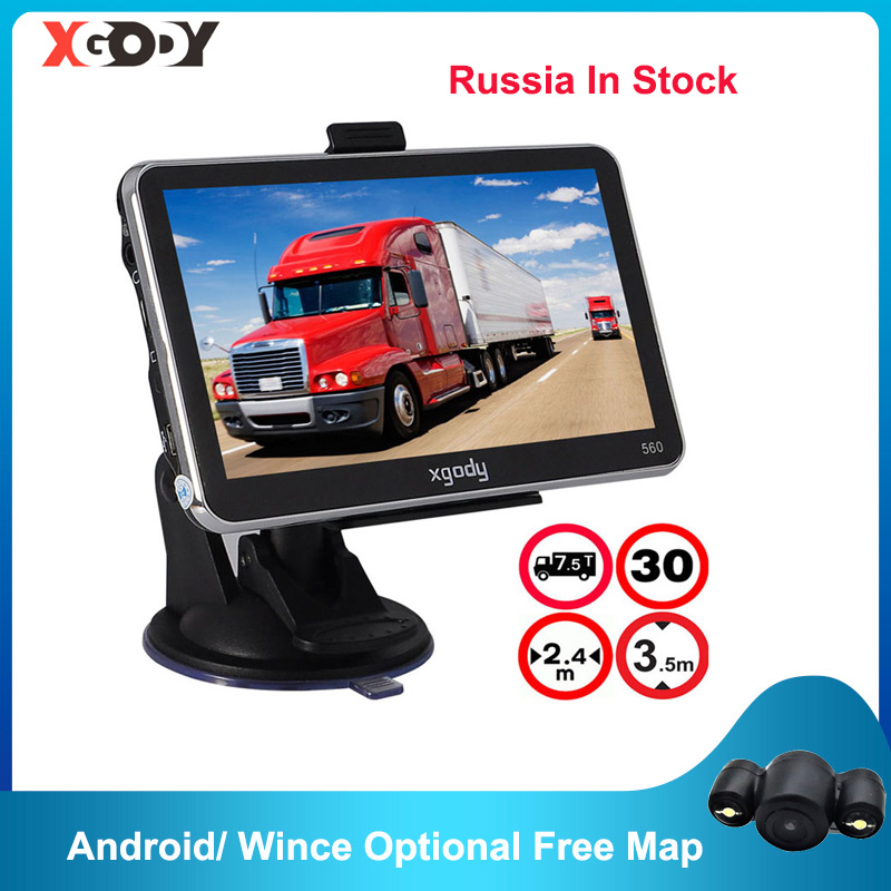 XGODY 560 5 Inch GPS Navigation Car Truck Navigator 128M 8GB FM SAT NAV Navitel Russia Map 2020 Europe Android Optional