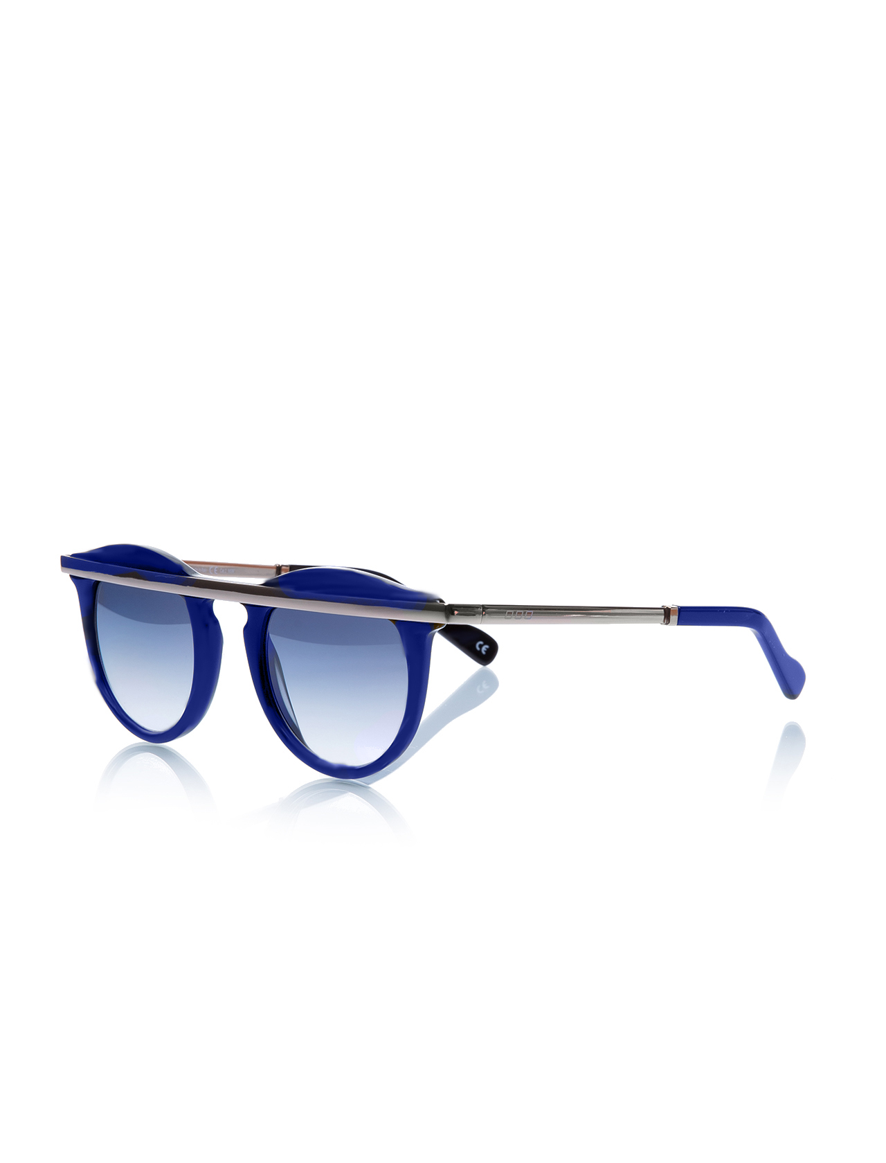 Unisex sunglasses nl 30043 a3062 2ak bone navy blue organic round round 47-23-140 no logo