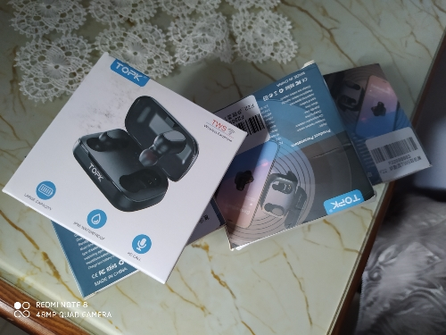 TOPK TWS Bluetooth 5.0 Wireless Bluetooth Headphones Earphones With Microphone Mini Cordless Earbuds for Xiaomi for Smart Phone|Bluetooth Earphones & Headphones|   - AliExpress
