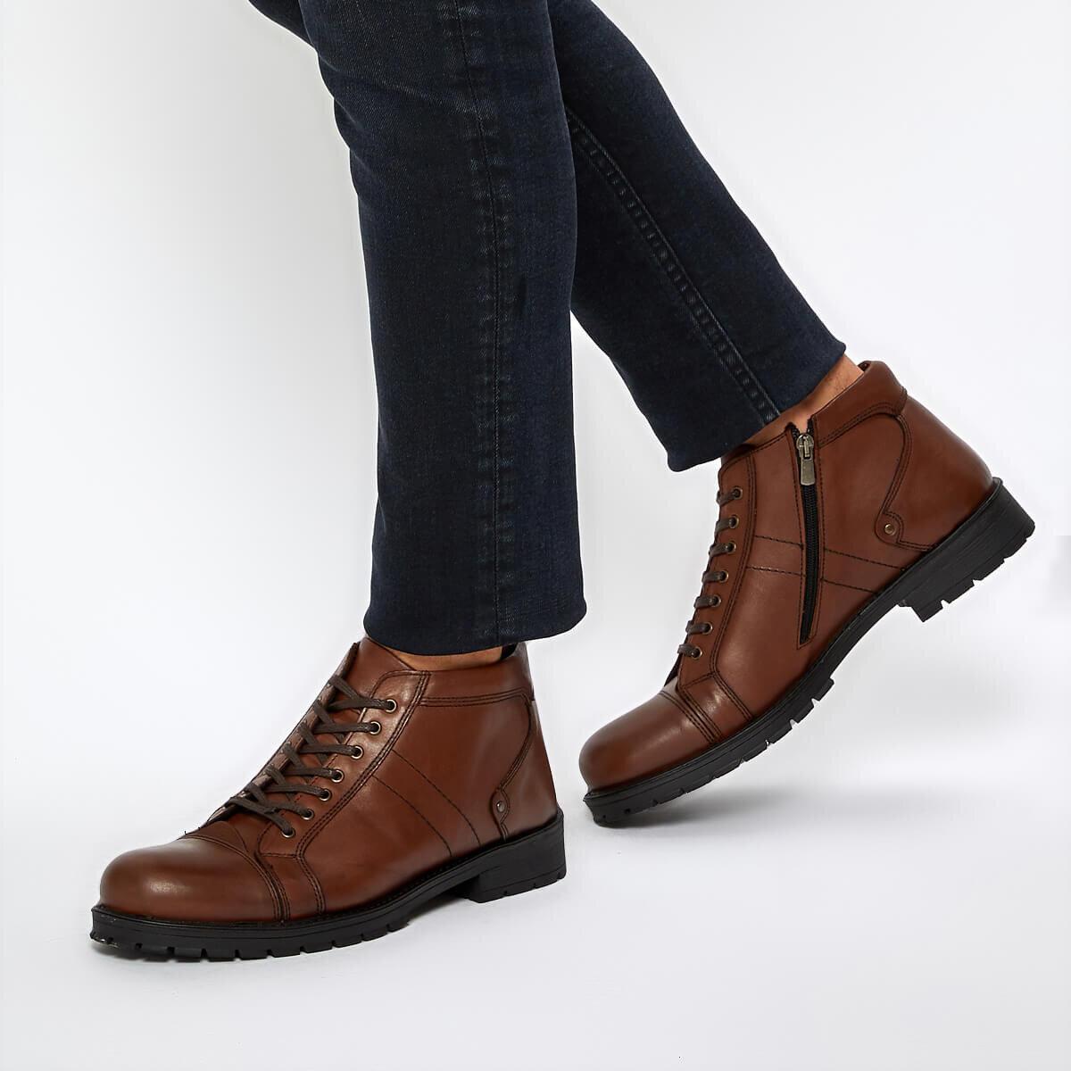 FLO 511 C 19 Tan mężczyźni buty tlenek