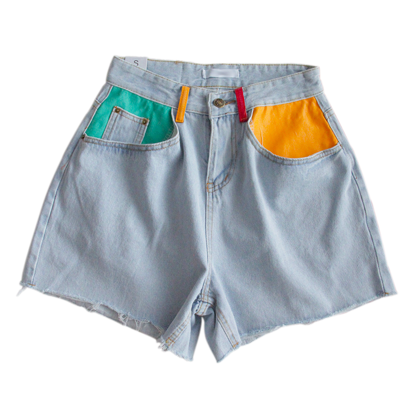 Summer Denim High Waist Shorts 2
