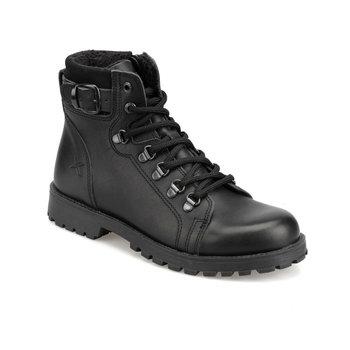 FLO SARDONE G 9PR czarne męskie buty dziecięce KINETIX tanie i dobre opinie ALLIGATOR Korka Chłopcy