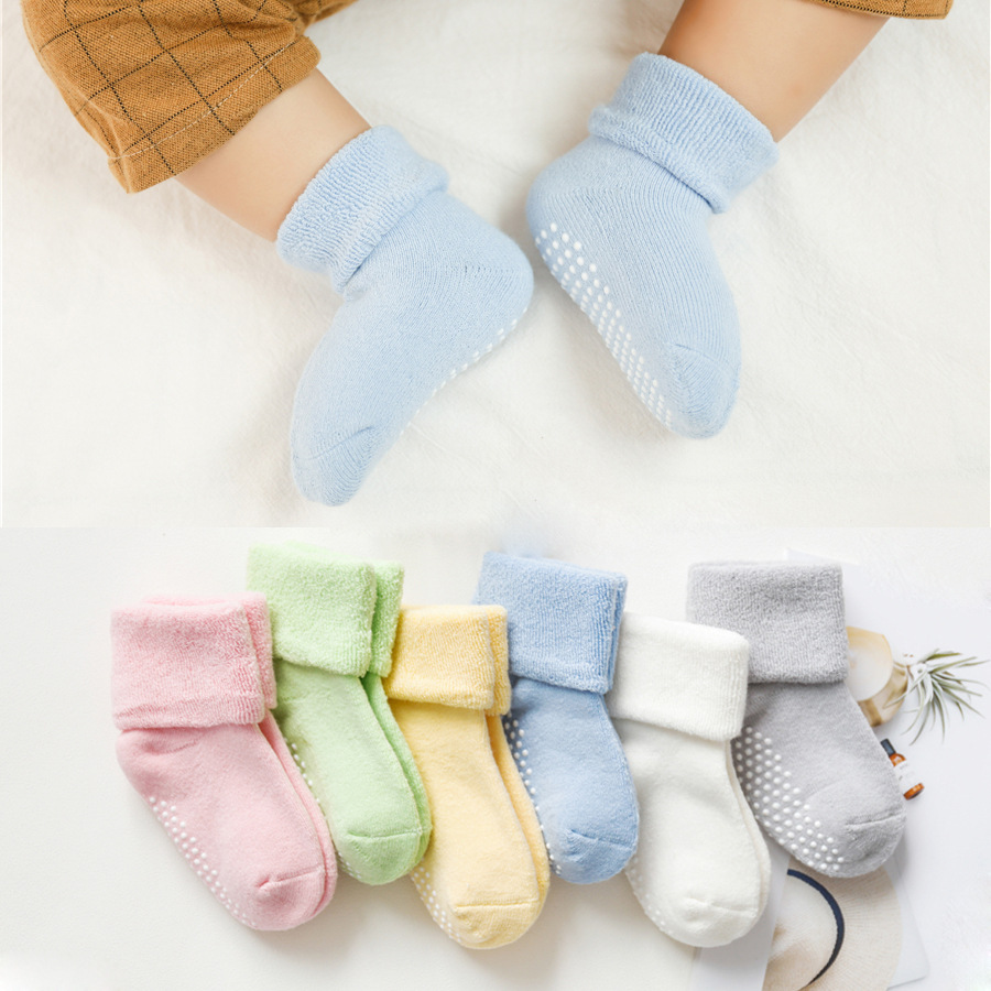Baby Socks New Lovely Soft Newborn Toddler Infant Kids Girls Boys Non Slip Socks 0~12 Months Fashion