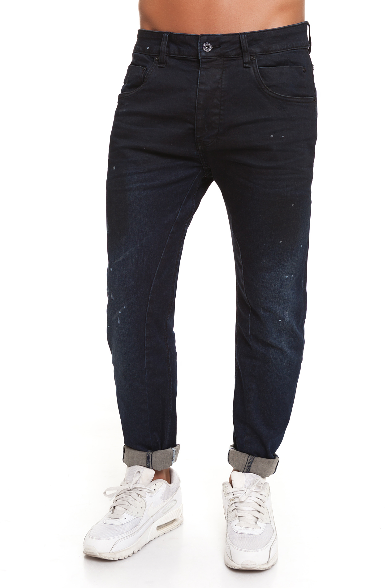 CR7 Jeans For Men Dark Blue Jeans Casual Straight Casual With Pockets CRD044A
