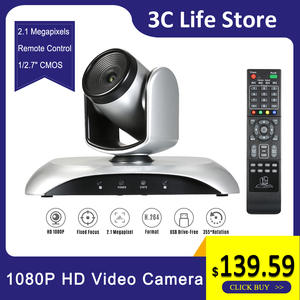 Conference-Camera Video-Meetings 1080P HD Webcam with Remote-Control for Teaching Fixed-Focus