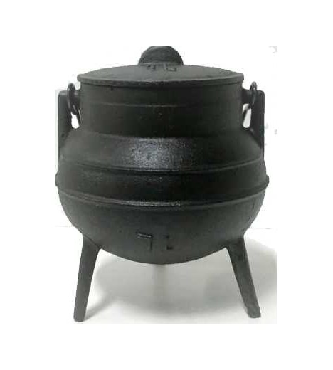 Iron CAULDRON 2 Lts. 12 Cm Mouth, 21 Cm High SANTERIA (WICCA)