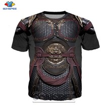 Anime 3d impression drôle t-shirt hommes femmes mode t-shirt armure armure sexy enfants Harajuku costume t-shirts drôle chemises homme t-shirt A45(China)