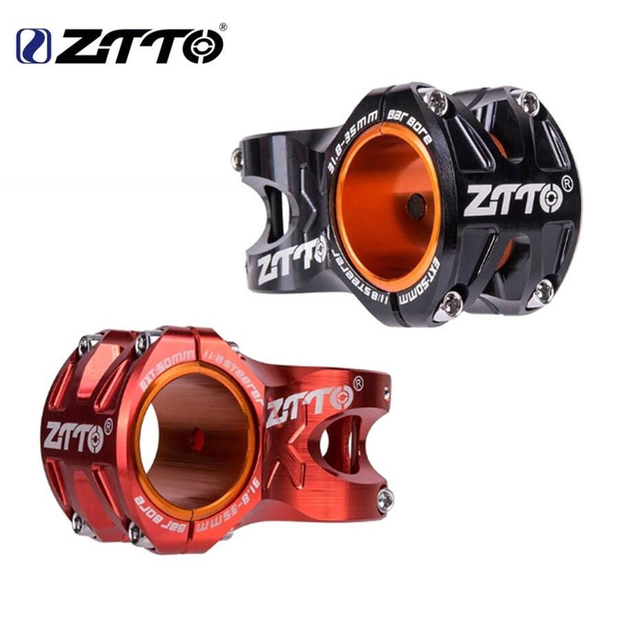 ZTTO potencia mtb Stem CNC 35mm 31.8mm Handlebar Bicycle ultralight 0 Degree Rise DH bicycle stem 28.6mm 50mm Mountain Bike stem