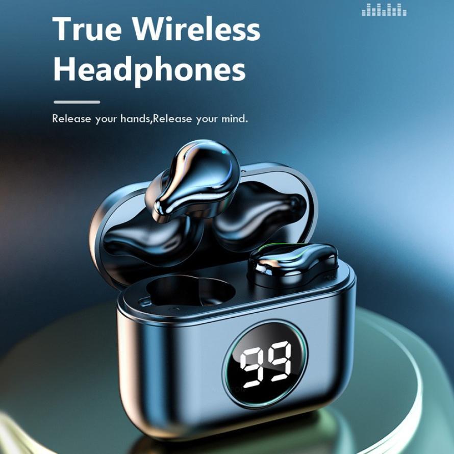 Car Wireless Earphone Bluetooth Business Sports Headphone Hifi Stereo Earbuds with Mic Gaming Headset for Xiaomi Huawei Ipone